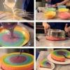 Робимо різнокольоровий торт