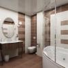 Дизайн стель у ванній кімнаті (20 фото)