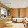 Дизайн ванної кімнати в бежевому кольорі: витонченість і комфорт (+53 фото)