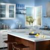 Блакитна кухня (50 фото): модні інтер`єри з яскравими акцентами