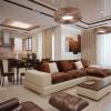 Інтер`єр коричневої вітальні (30 фото)