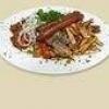 Як приготувати на грилі картопля з ковбасою?