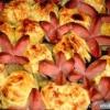 Як зробити квіткову галявину із сосисок і картоплі?