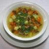 Картопляний суп з баклажаном
