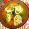 Курячий суп з сирними рулетиками - (перші страви фото)