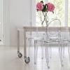 Прозорі стільці в декорі будинку (36 фото)