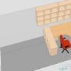 Розстановка меблів у вузькій кімнаті, яка виконує робочу і спальну функції