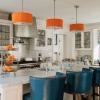 Синя кухня (21 фото): вдалі поєднання кольорів в інтер`єрі