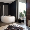 Скляна шторка для ванної (50 фото): стильні варіанти