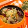 Суп з беконом, селерою і квасолею