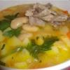 Суп з квасолею і м`ясом - (приготування перших страв)