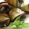 Смажені баклажани з часником і зеленню - (смачні закуски фото)