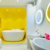 Жовта ванна кімната (19 фото): приклади сонячного дизайну